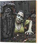 Spookie Lady Wood Print