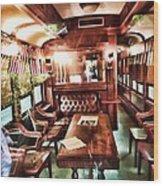 Spooky Old Train  Wood Print