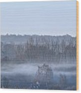 Spooky Winters Morning Wood Print by Karen Grist