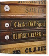 Spool Cases Wood Print