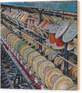 Spools At Lonaconing Silk Mill Wood Print