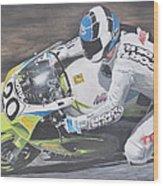 Sport Rider Wood Print