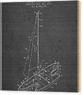 Sport Sailboat Patent From 1977 - Dark Wood Print