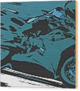 Sportbike Racer Wood Print