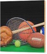 Sports Equipment Wood Print by Joe Belanger
