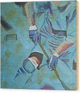 Sports Hockey-2 Wood Print