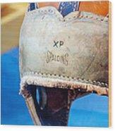Sports - Vintage Football Helmet Wood Print