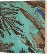 Spot Of Blue Wood Print