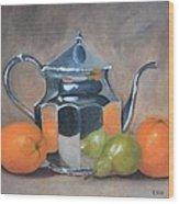 Spot Of Tea Wood Print