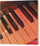 Spotlight On Piano Wood Print