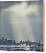 Spotlight On The Bay Wood Print
