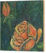 Spotlight Rose Wood Print