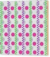 Spotty Stripe Wood Print