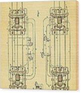 Sprague Electric Railway Patent Art 1885 Wood Print