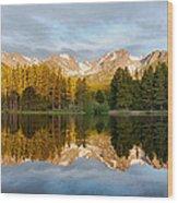 Sprague Lake Reflections Wood Print