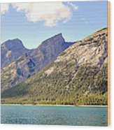 Spray Lake Mountains Wood Print
