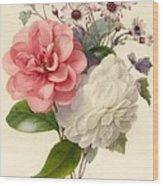 Spray Of Three Flowers Wood Print