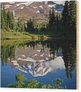 Spray Park Reflection Wood Print
