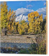 Spread Creek Grand Teton National Park Wood Print