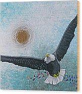 Spread Eagle Wood Print