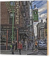 Spring And Mulberry - Street Scene - Nyc Wood Print by Madeline Ellis