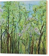 Spring Arpeggio Wood Print