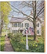 Spring At Dianna's 1 Wood Print by Path Joy Snyder