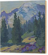 Spring At Mount Rainier Wood Print