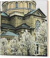 Spring At The Basilica Wood Print
