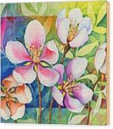 Spring Ballerinas Wood Print