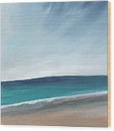 Spring Beach- Contemporary Abstract Landscape Wood Print