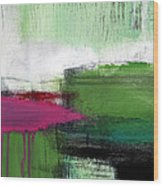 Spring Became Summer- Abstract Painting  Wood Print