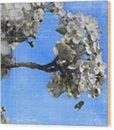 Spring Bee Wood Print
