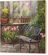 Spring - Bench - A Place To Retire  Wood Print