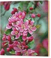 Spring Bokeh Wood Print