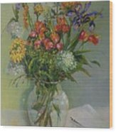 Spring Bouquet in Glass          copyrighted Wood Print