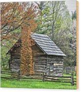 Spring Cabin I - Blue Ridge Parkway Wood Print by Dan Carmichael
