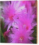 Spring Cactus Wood Print