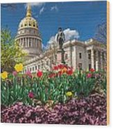 Spring Comes To Wv Capitol Wood Print