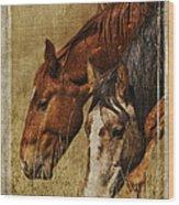 Spring Creek Basin Wild Horses Wood Print