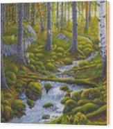 Spring Creek Wood Print