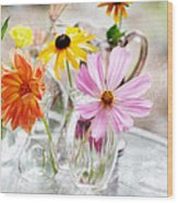 Spring Delights Wood Print by Bonnie Bruno