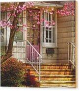 Spring - Door - Dogwood  Wood Print