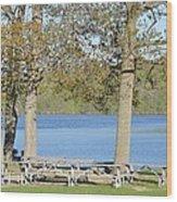 Spring Fed Shepherd Lake Wood Print