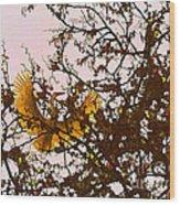Spring Flight Wood Print