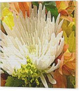 Spring Floral Burst Wood Print
