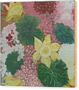 Spring Flower Bouquet Wood Print