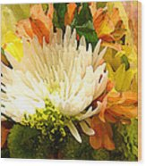 Spring Flower Burst Wood Print