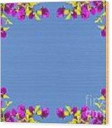 Spring Flower Frame Wood Print