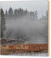 Spring Fog Wood Print